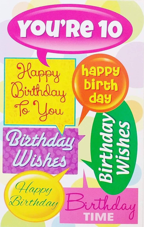 Wonderful 10th Birthday Image For Kid