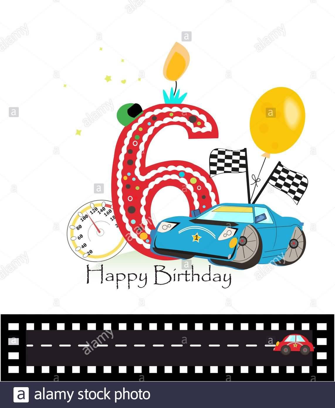 Wonderful 6th Birthday Greeting For Kid