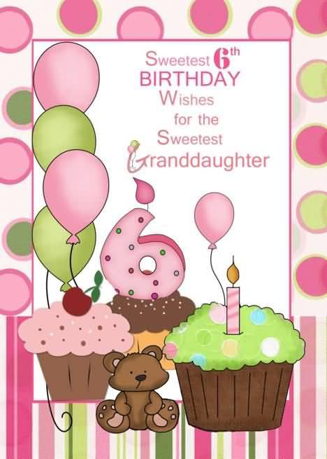 Wonderful 6th Birthday Wish For Kid