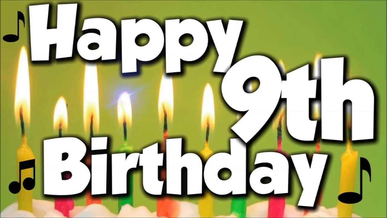 Wonderful 9th Birthday Card For Kid