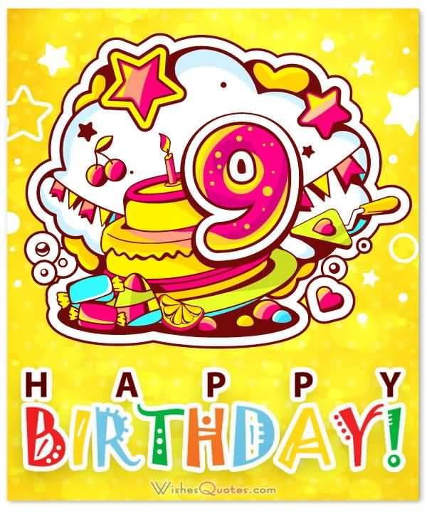 Wonderful 9th Birthday Wishes Idea For Kid