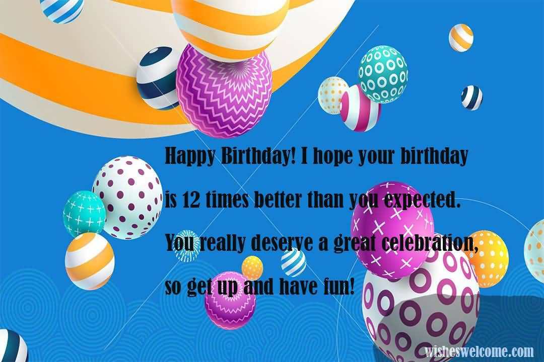Wonderful Happy 12th Birthday Greeting For Kid