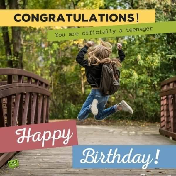 Wonderful Happy 13th Birthday Image For Kid