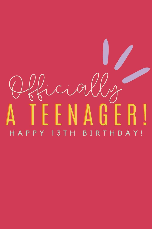 Wonderful Happy 13th Birthday Wish For Kid