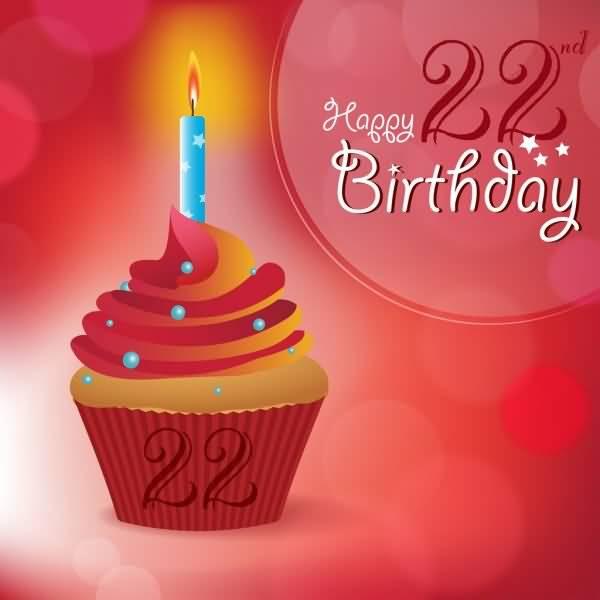 Wonderful Happy 22nd Birthday Card For Friend