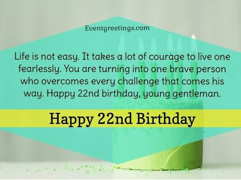 Wonderful Happy 22nd Birthday Image For Friend