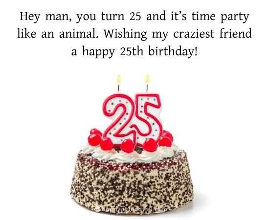 Wonderful Happy 25th Birthday Message For Facebook