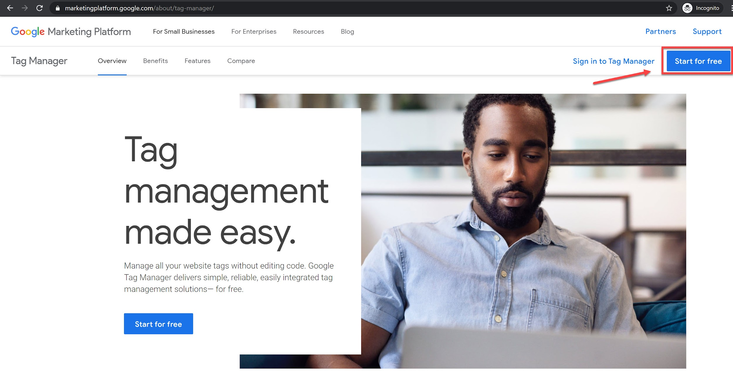 Install Google Tag Manager to a WordPress Site