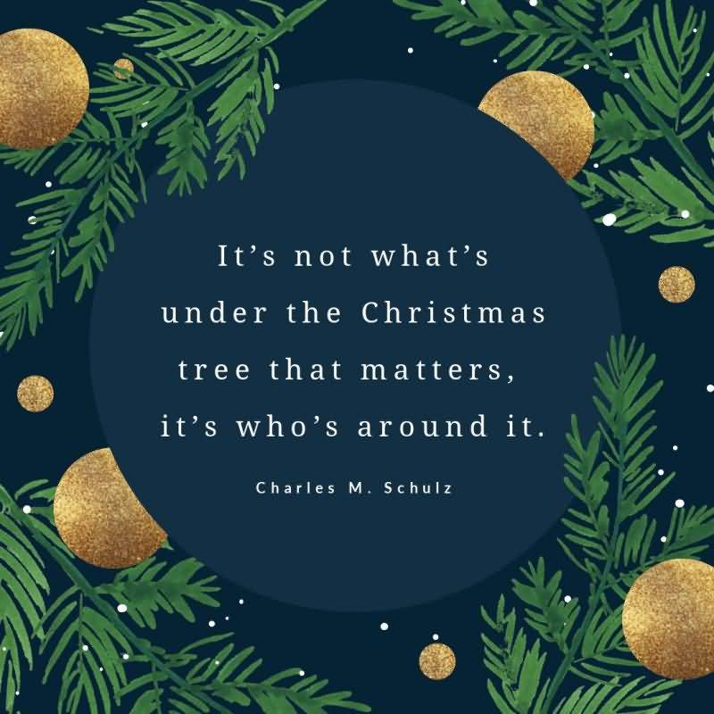 It's Not What's Under Christmas Eve Quotes