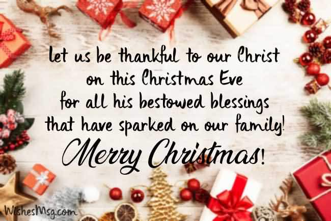 Let Us Be Thankful Christmas Wishes