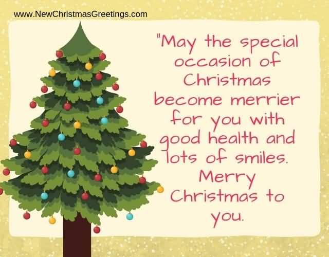 May The Special Occasion Christmas Wishes