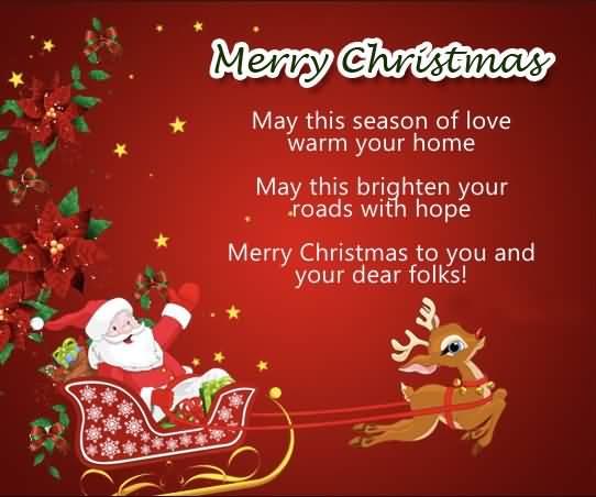 May This Season Of Christmas Wishes