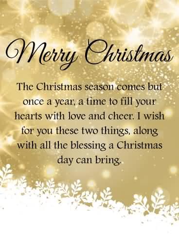 The Christmas Season Comes Christmas Wishes