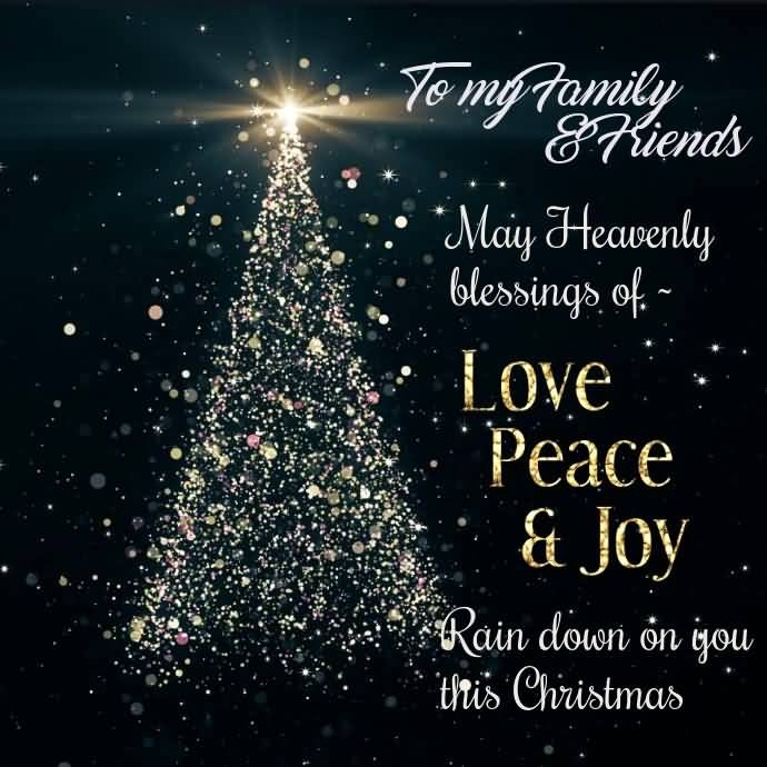 To My Family & Friends Christmas Wishes