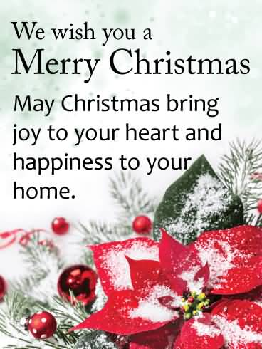 We Wish You A Christmas Wishes