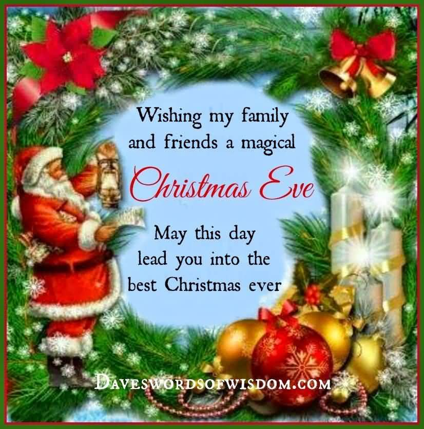 Wishing My Family And Christmas Eve Quotes