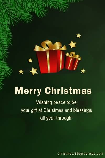 Wishing Peace To Be Christmas Wishes