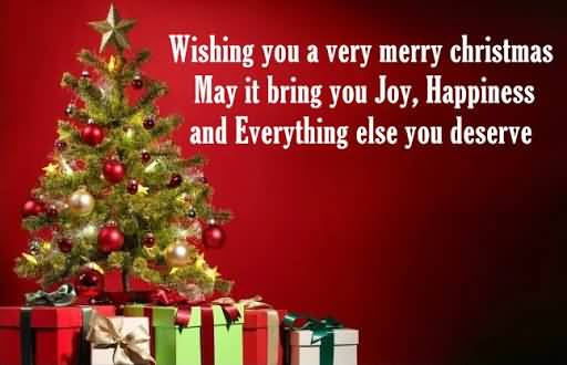 Wishing You A Very Merry Christmas Wishes
